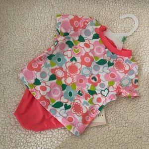Baby Girls 2-pc. Floral Rashguard Swimsuit